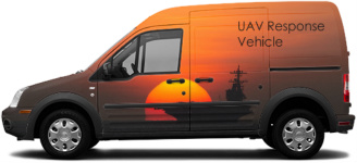 UAV Van Transit Connect Wrap