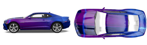 Ultra Violet 1 Muscle Car Wrap