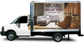 MILANO HOME FURNISHINGS Box Truck Wrap