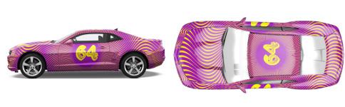 Camaro Race Livery Muscle Car Wrap