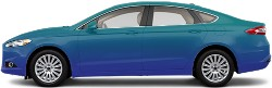 Blue/Blue Fusion Sedan Wrap