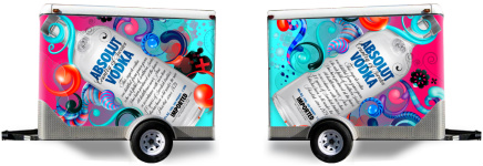 Absolut Vodka Remix! Trailer Wrap