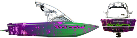 design boat wraps with cool effects in minutes