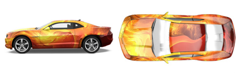 The Phoenix Muscle Car Wrap