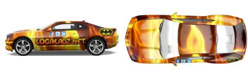 Fire Design by LocalAdz.net - Muscle Car Wrap