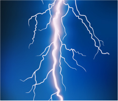 "Lightning Bolt Car Magnet 14""W x 12""H"