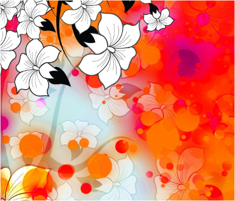 "Tropical Flower Motif Car Magnet 14""W x 12""H"
