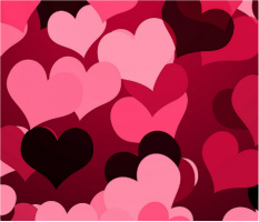 """Hearts on Hearts Car Magnet 14""""W x 12""""H"""