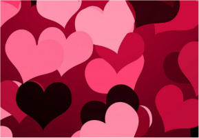 """Hearts on Hearts Car Decal 26""""W  x 18""""H"""