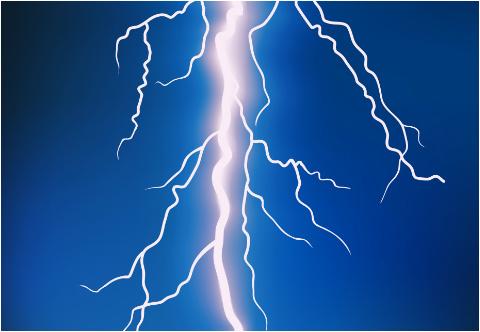 """Lightning Bolt Car Decal 26""""W  x 18""""H"""