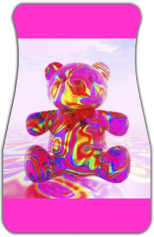 Pink Beary Bear Car Mats Front