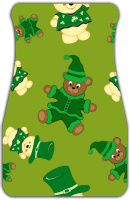 St Pattys Day Bears Car Mats Front