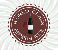 """Premium Wine Logo Car Magnet 14""""W x 12""""H"""