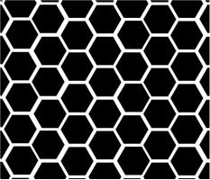 "Black Honeycomb Car Magnet 14""W x 12""H"