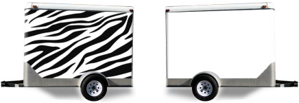 Zebra Stripes Trailer Wrap