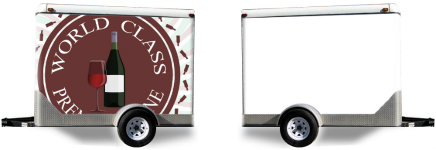 Premium Wine Logo Trailer Wrap