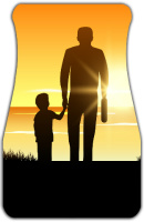 Father Sunset Car Mats Front