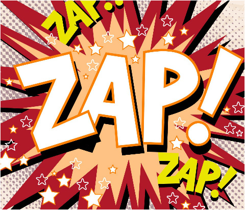 "Zap! Car Magnet 14""W x 12""H"