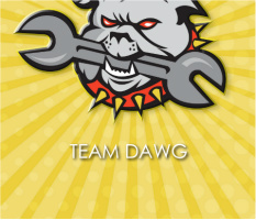 "Team Dawg Car Magnet 14""W x 12""H"