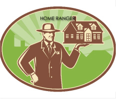 "HOME RANGER REAL ESTATE Car Magnet 14""W x 12""H"