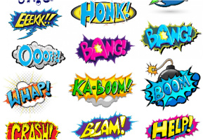 "Pow Boom Zap! Car Decal 26""W  x 18""H"