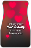 Romeo and Juliet True Beauty Car Mats Front