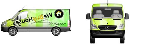 We Buy Houses Van Wrap