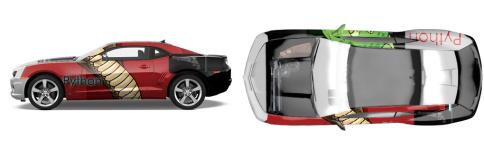 Python Muscle Car Wrap